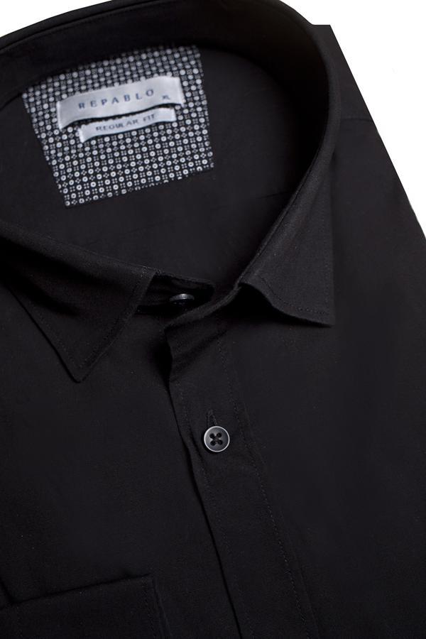 Koszule męskie czarne - obrazek
